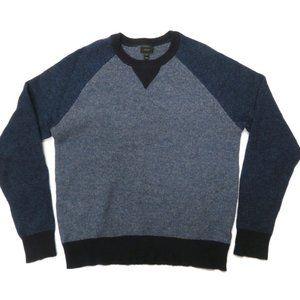 J.Crew Lambswool Sweater Mens Medium Blue Pullover
